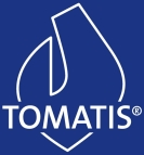 Logo Tomatis blanc sur fond bleu