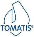Logo Tomatis bleu sur fond blanc